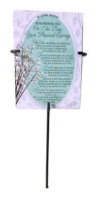 Grave Card & Holder Stake Graveside Memorial Anniversary Day You Passed Him Her