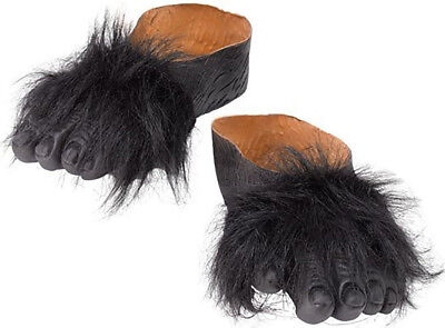 Gorilla Feet Shoes Ape Monkey King Kong Fancy Dress Kids Adult Accessory Zoo 10""