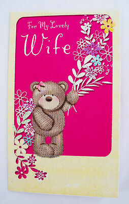 for my lovely wife happy birthday greeting card envelope seal luxury couple
