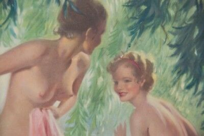 Water Nymphs by Bradshaw Crandall Vintage Art Print 1936 from IODENT tooth paste