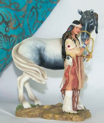 Sisters in Spirit Collection INDIAN Maiden with her Horse - FAITHFUL FRIENDS