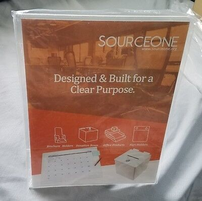 2pk SourceOne  8.5 x 11 Clear Acrylic Sign Holder Desk, Counter, Signage, Sales