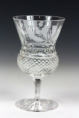 1X GENUINE Edinburgh Crystal Thistle Wine Water Glass 5.1 In 1st Quality Signed