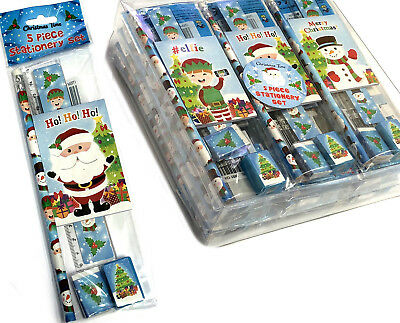 1 6 12 24 Christmas Stationery Set Teacher Gift Fair Party Bag Stocking Fillers