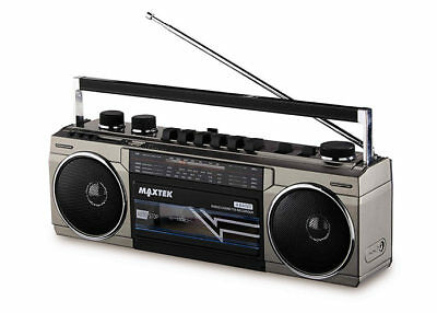 Medion 80S Style Boombox E65131 Bluetooth USB FM Cassette Recorder RADIO Am SW