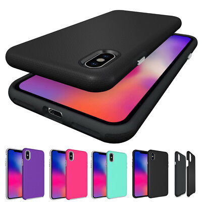 For iPhone Xs Max XR X 8 Plus Dual Layer Protective Shockproof Hard Cover Case