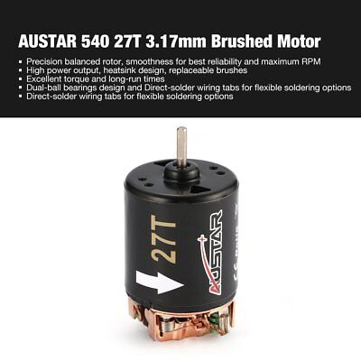 AUSTAR 540 27T 3.17mm Brushed Motor for 1/10 On-road Drift Touring RC Car GS