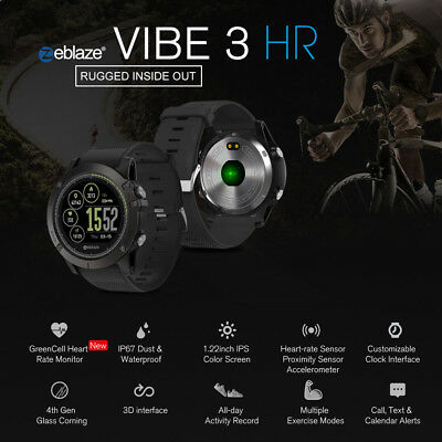Zeblaze VIBE 3/VIBE 3 HR Smart Watch Calories Consumption Waterproof Camera Hot