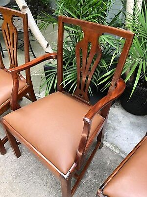Set of 10 18th Century English Country Sheraton mahogany dining chairs