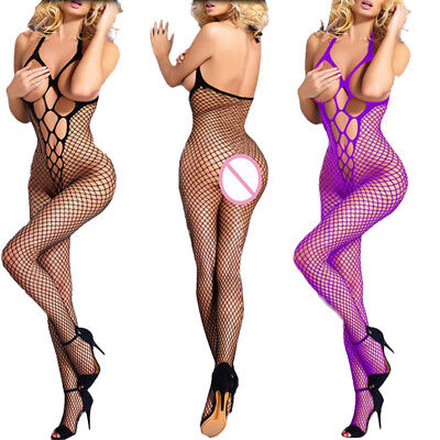 Lingerie Nightwear Women Open Fishnet Body Stocking Bodysuit Sexy Seductive