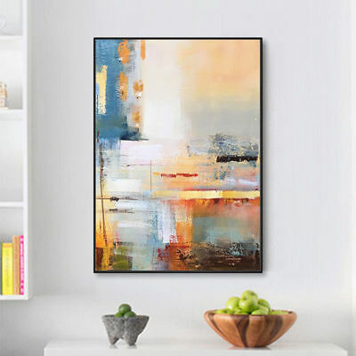 """HH324 Modern abstract oil painting 100% Hand-painted Decor Canvas No Frame 36"""""""