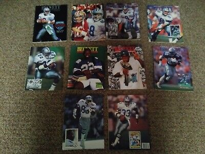 Lot of 10 Vintage 90's Dallas Cowboy Covers - Beckett Football Card Monthly