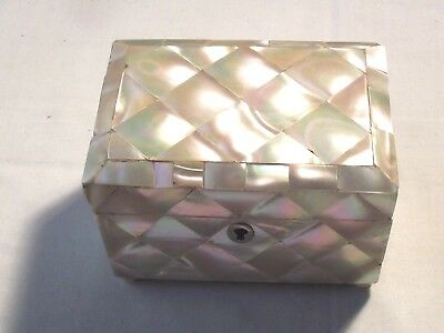 Quality Mother Of Pearl Victorian Tea Caddy