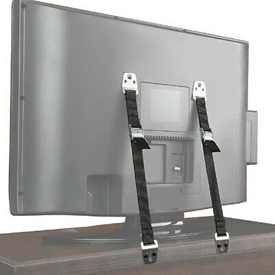 2x Baby Safety Furniture TV Anti Tip Wall Straps Anchors Metal Child Proofing Z