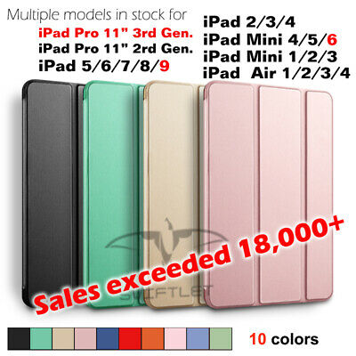 Lightweight Shockproof Smart Cover Case for iPad 7(2019)/6/5/4/3/2 iPad Mini