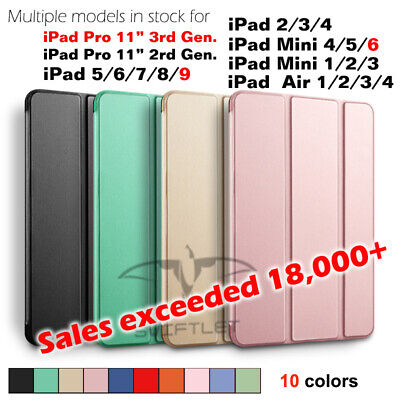 Shockproof smart Stand Cover Case Softer Back for iPad 9.7 2/3/4/5/6 mini1/2/3/4