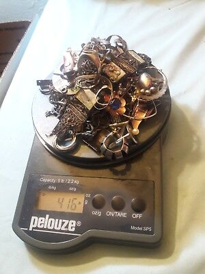 416 Grams Total Weight Scrap Broken Sterling Silver Jewelry Lot No Reserve