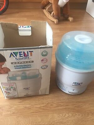 Avent *Express Electric Steam Steriliser* For Baby Bottles etc with Box