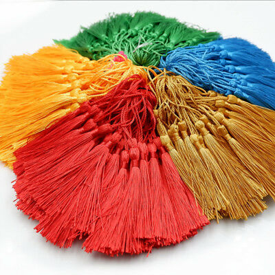 10PCS DIY Craft Multi Color Tassels Fringe Pendants Bookmark Bag Hanging Decor #
