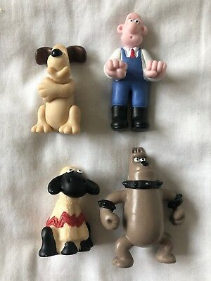 4 Rare Wallace and Gromit Collectible Figures Figurines Shaun  1998
