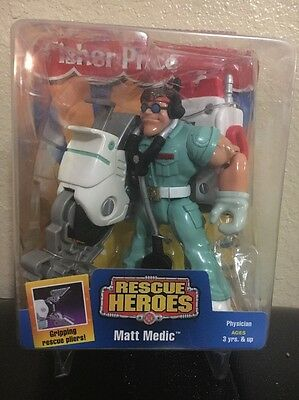 Matt Medic Fisher Price 2002 R Scud Heroes Physician New In The Box