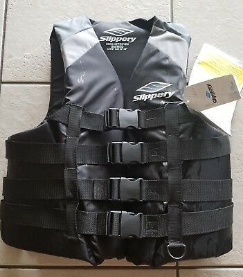 SLIPPERY Watercraft Vest / Life Jacket (black/grey), New with tags, adult 32-40""