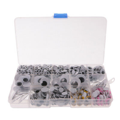 1100pcs Googly Eye Doll Toy Wiggly Joggle Google Eyes Non-adhesive 5-25mm
