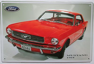 Ford Mustang 1964, Usa, Blechschild