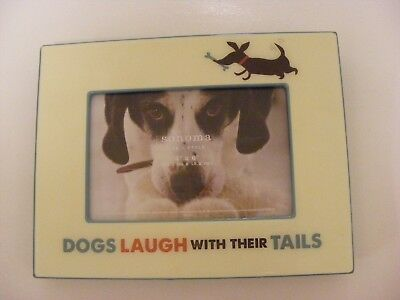"Dachshund Dog Frame By Sonoma 4"" X 6"" DOGS LAUGH WITH THEIR TAILS"