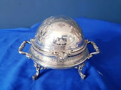 An Antique Victorian Silver Plated Butter Dish By Philip Ashberry.c 1800.s