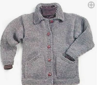 super chunky jacket easy knitting pattern