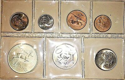 South Africa Mint Set 1967 With Silver R1 Ms Bu (Afrikaans)