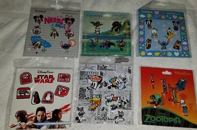 Disney Trading Pins Authentic Disney Parks 6 New Booster Packs Moana Zootopia ++