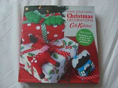 Cath Kidston 'Make Your Own Christmas Decorations' Book & 12 Felt Ornaments Kit