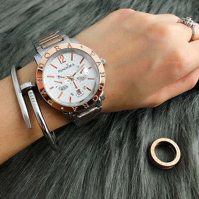New Fashion Stainless Steel Simple Quartz Wristwatch P Bear Watch