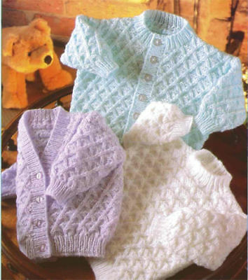 baby cardigan and sweater dk knitting pattern