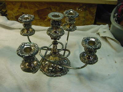 Pair of Gorham Silver Candelabra Candle 5 Holder. silver plate by GORHAM MFG CO.
