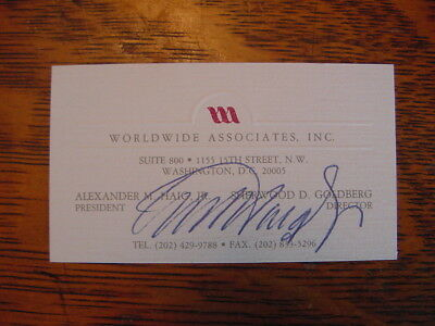 Alexander Haig Hand Signed Personal Business Card Authentic Autograph