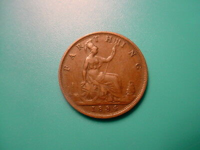 British 1884 Farthing In Very Nice Condition