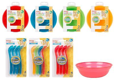 Nuby Baby Feeding Bowls 3 Pack,4 Pack Spoons Various Colour BPA Free