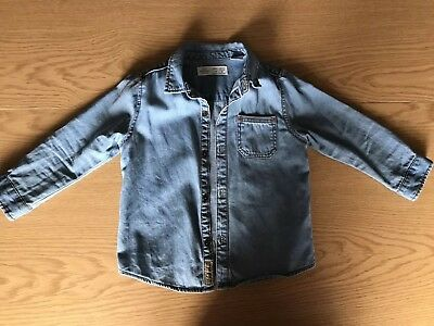 Zara Boys Denim Shirt 18-24 Months