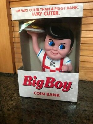 "NIB 1999 BIG BOY Hamburger Coin Bank Restaurant Funko Products 8""  Collectible"