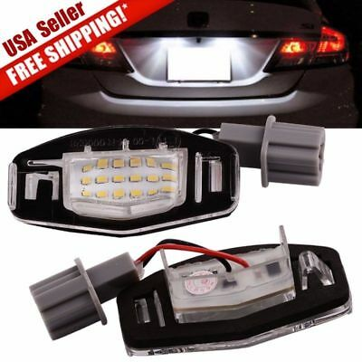 2x 18LED License Plate Light Direct Fit For Acura TL TSX MDX Honda Civic Accord