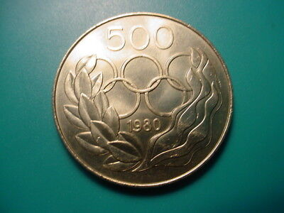 Cyprus 1980 500-Mils Moscow Olympic Games Coin In Nice Uncirculated Condition