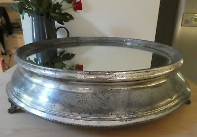 Huge Victorian silver plated mirrored cake stand. country house clearance item