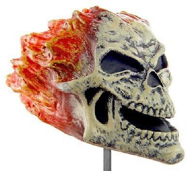 Available NOW through Halloween!  EERIE Antenna Toppers - FLAMING SKULL