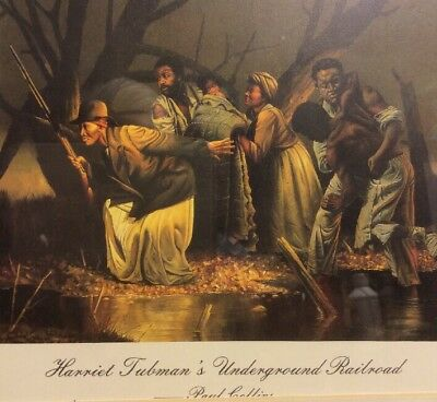 Harriet Tubman's Underground Railroad By Paul Collins Litho Print Framed/Matted