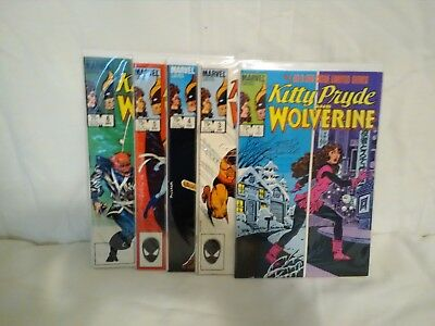 Kitty Pryde And Wolverine #1,3,4,5,6 Limited Series MARVEL VF+ to NM