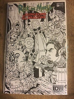 Rick & Morty vs Dungeon And Dragons #1 Convention Variant Limited To 500 NM