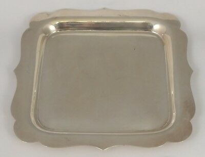 ANTIQUE American 925 STERLING SILVER Square Dish PIN TRAY Plate INTERNATIONAL Co